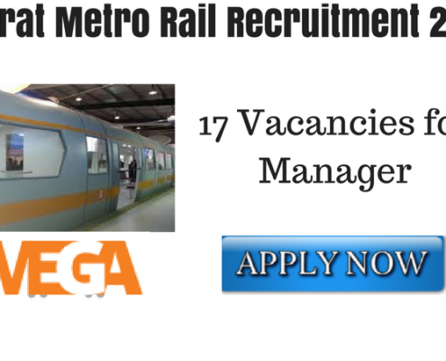 Gujarat Metro Rail Recruitment 2018