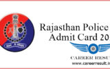 Rajasthan Police Constable 2018 Admit Card