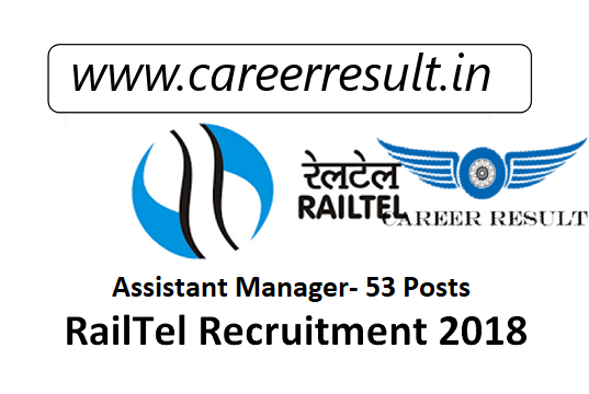 RailTel Recruitment 2018