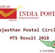 India Post Rajasthan MTS Result 2018