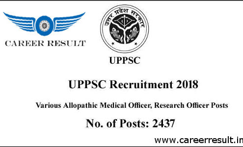 UPPSC Medical Officer Recruitment 2018