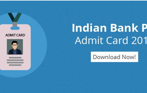 Indian Bank PO Mains Admit Card