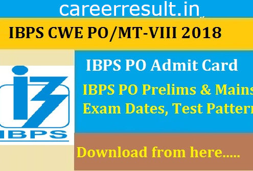 Institute of Banking Personal Selection (IBPS),CRP Clerk VIII Recruitment 2018,IBPS Clerk CWE 2018 VIII Pre Exam Training, Pre Exam Admit Card 2018