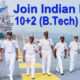 Indian Navy 10+2 B.Tech Entry Online Form 2018