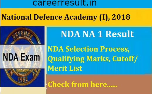 UPSC NDA Recruitment 2018 Final Result