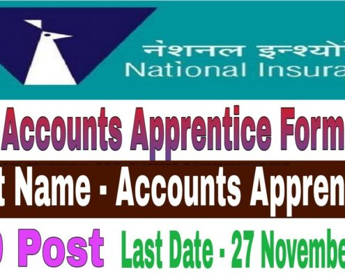NICL Account Apprentice Online Form 2018
