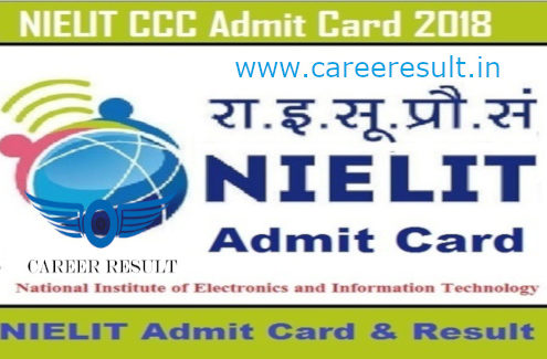 NIELIT CCC Admit Card 2018