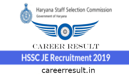 HSSC JE Recruitment Online Form 2019