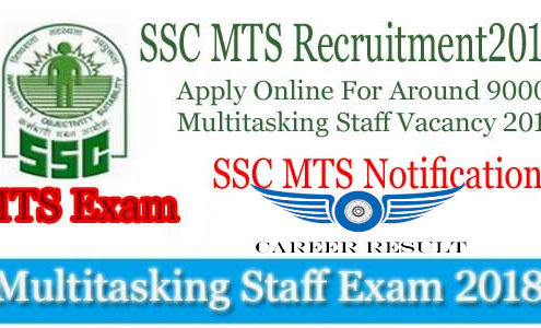 SSC MTS 2018 Recruitment | 10,000 Multi Tasking Staff (MTS) Vacancy
