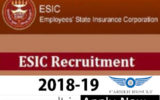 ESIC Various Paramedical Post 2019 Online Form