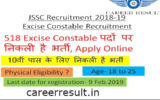 JSSC Excise Constable Recruitment Online Form 2018