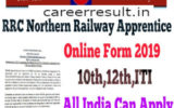 RRC NR Apprentices Recruitment Online Form 2019