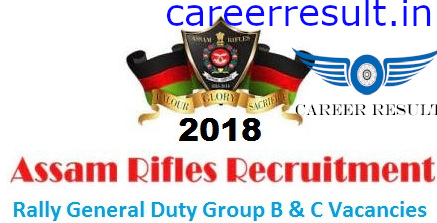 Assam Rifles Group B & C Rally Online Form 2018