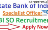 SBI SO Recruitment 2019 | SBI SO Various Post Online Form 2019