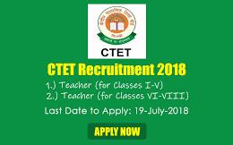 CTET Vacancy 2018