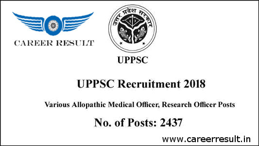 UPPSC Medical Officer Recruitment 2018