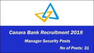 canara-bank-recruitment-2018-31 Manager Security
