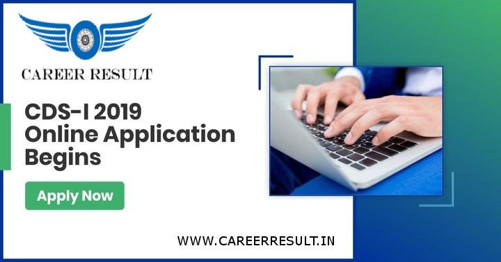 UPSC CDS I Online Form 2019