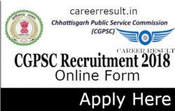 CGPCS Pre Online Form 2018