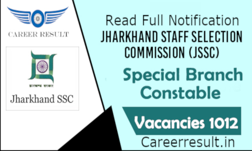 JSSC Special Branch Constable Recruitment Online Form 2019